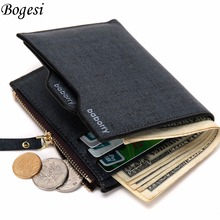 2016 Men Wallet Coin Bag zipper ID Credit Card Holder Faux Leather Bifold Coin Purse Top Brand Wallet Pockets Promotion Gift(China (Mainland))