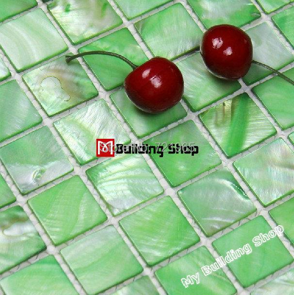Green sea shell mosaic Mother of pearl tile kitchen backsplash MOP050 pearl shell bathroom tiles mother of pearl tiles<br><br>Aliexpress
