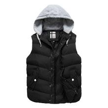 Brand Big Size Solid Winter Vest For Men Sleeveless Jackets Men s Vest With Many Pockets