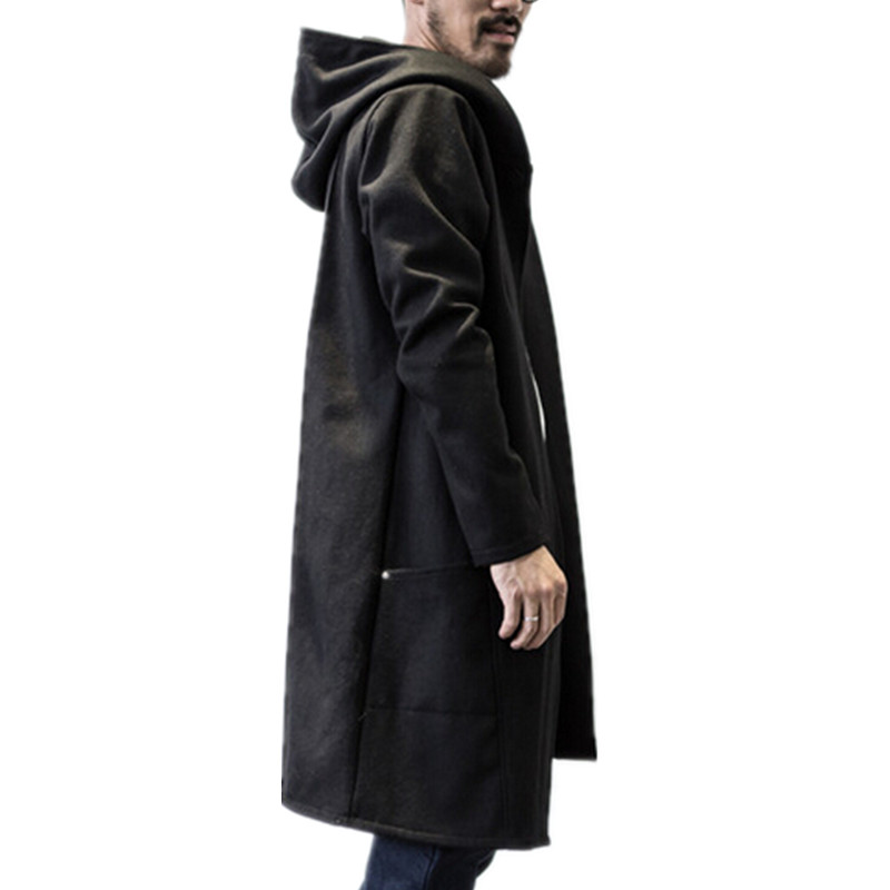 Long Black Rain Coat - Coat Nj