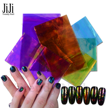 Buy 6Pcs/Lot 20X50cm NEW Bling Nail Art Stickers Broken Glass Pieces Mirror Foil Stencil Decals Beauty Decoration Tool DIY JIBL19-24 for $1.57 in AliExpress store