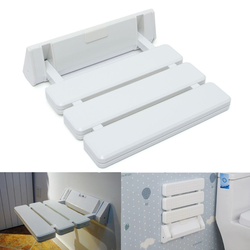 Different Price Wall Mounted Foldable Stool Bathroom Shower Seat Folding Spa Bench Space Saving