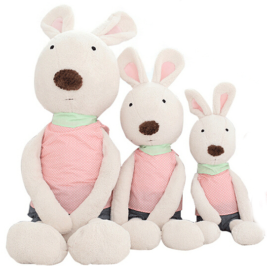 30CM 2015 New Dot Rabbit Le Sucre Dolls Bunny Plush Toys Stuffed Doll Gifts Baby Kids Love Good Quality Free Shipping NT023B(China (Mainland))