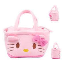 2016 Pink Color Cute Kawaii Cartoon Hello Kitty Baby Girls Mini Soft Plush Bag Kids Children Handbag for Toy&(China (Mainland))