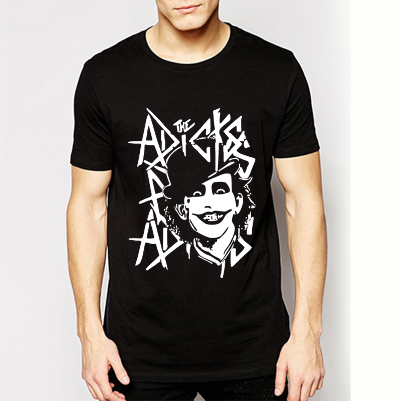 Rock And Roll Band The Clown Adicts Logo T-shirts Men Cotton New Casual Tops T Shirts High Quality Short Sleeve Tshirts Dress(China (Mainland))