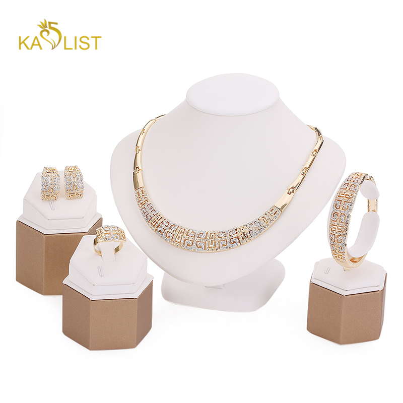Jewelry Set Chunky Necklace and Bangle Sets Designer Vintage African Costume Women Wedding Accessories Gold Plated Jewellery(China (Mainland))