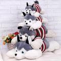 40CM 2015 HOT Siberian Husky lies prone dog plush toy dog doll creative Valentine s Day