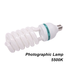 High Quality E27 5500K CFL Photography Lighting Video Bulb Daylight Balanced Energy Saving fluorescent Lamp photo studio