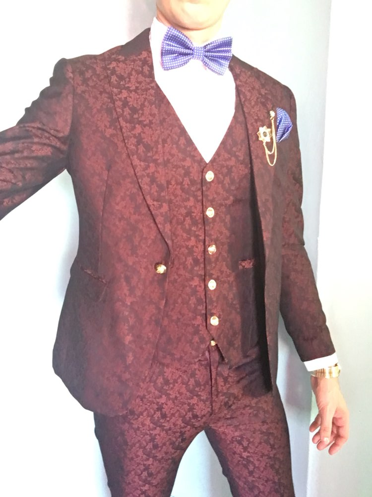 HTB1zfNPPVXXXXbxXVXXq6xXFXXXl - MAUCHLEY Prom Mens Suit With Pants Burgundy Floral Jacquard Wedding Suits for Men Slim Fit 3 Pieces / Set (Jacket+Vest+Pants)