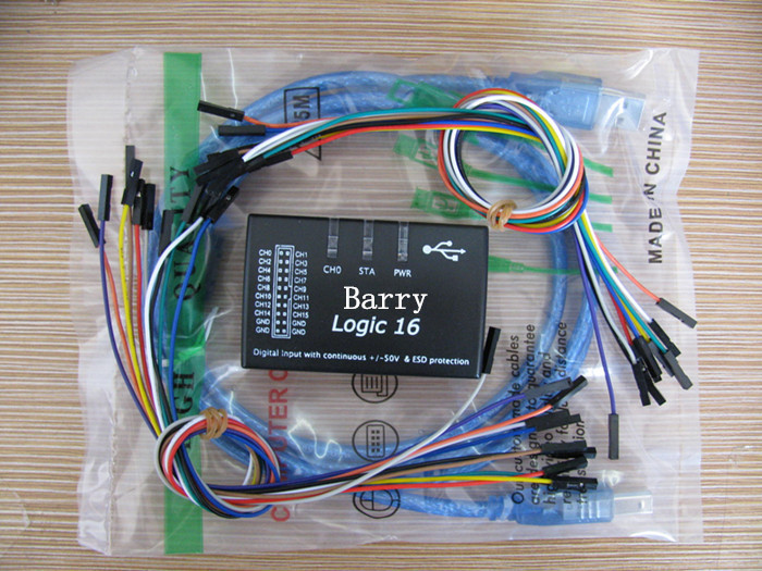 Logic16 USB Sale-16 100M logic analyzer Support 1.2.5 version software ARM FPGA decoder tool R&D Tools Oscilloscopes