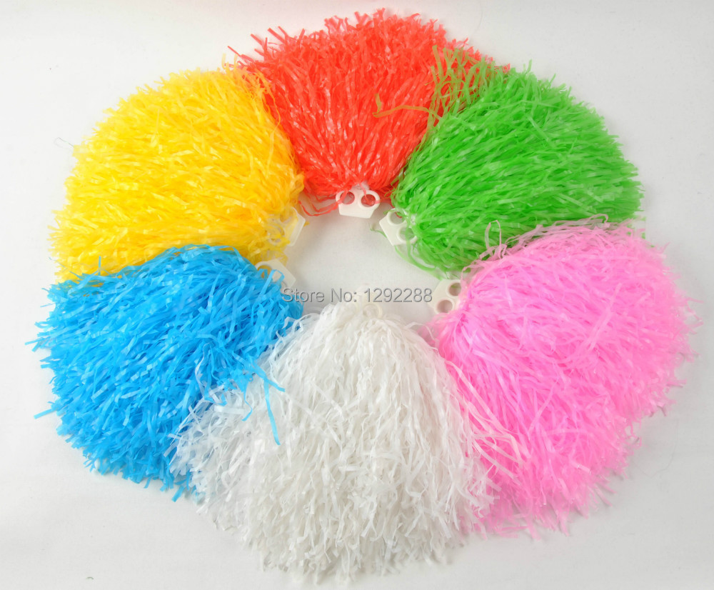 Free Shipping 10 pcs Pompom,Cheering pompom Cheerleading products,20G-150G,9 colours Drop shipping(China (Mainland))