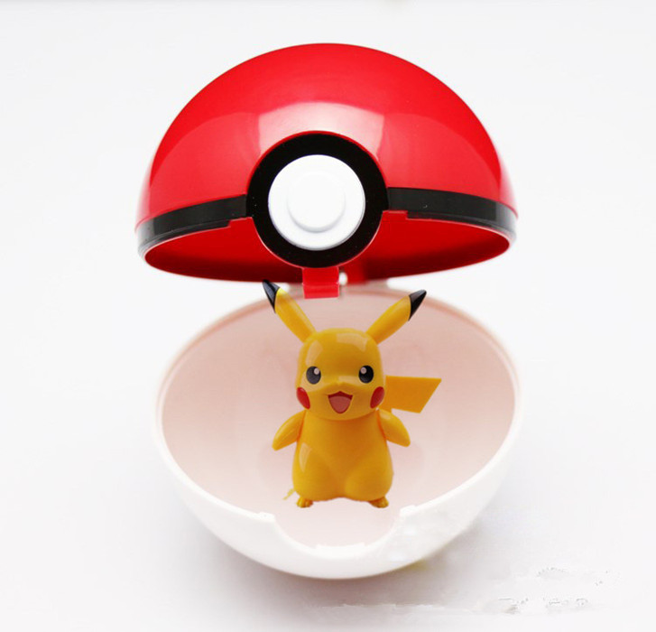 Trainer Pokemon Love Park Ball Masterball Pokeballs GS Ultra Dive Poke Ball Toy 7CM, with Pikachu(China (Mainland))