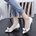 The new spring and summer 2015 in shoes with a single female in fine with pointed