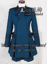 2015 New Sale Freeshipping Adult Unisex Cotton Microfiber Butler Cosplay Ciel Phantomhive Dark Costume custom Made