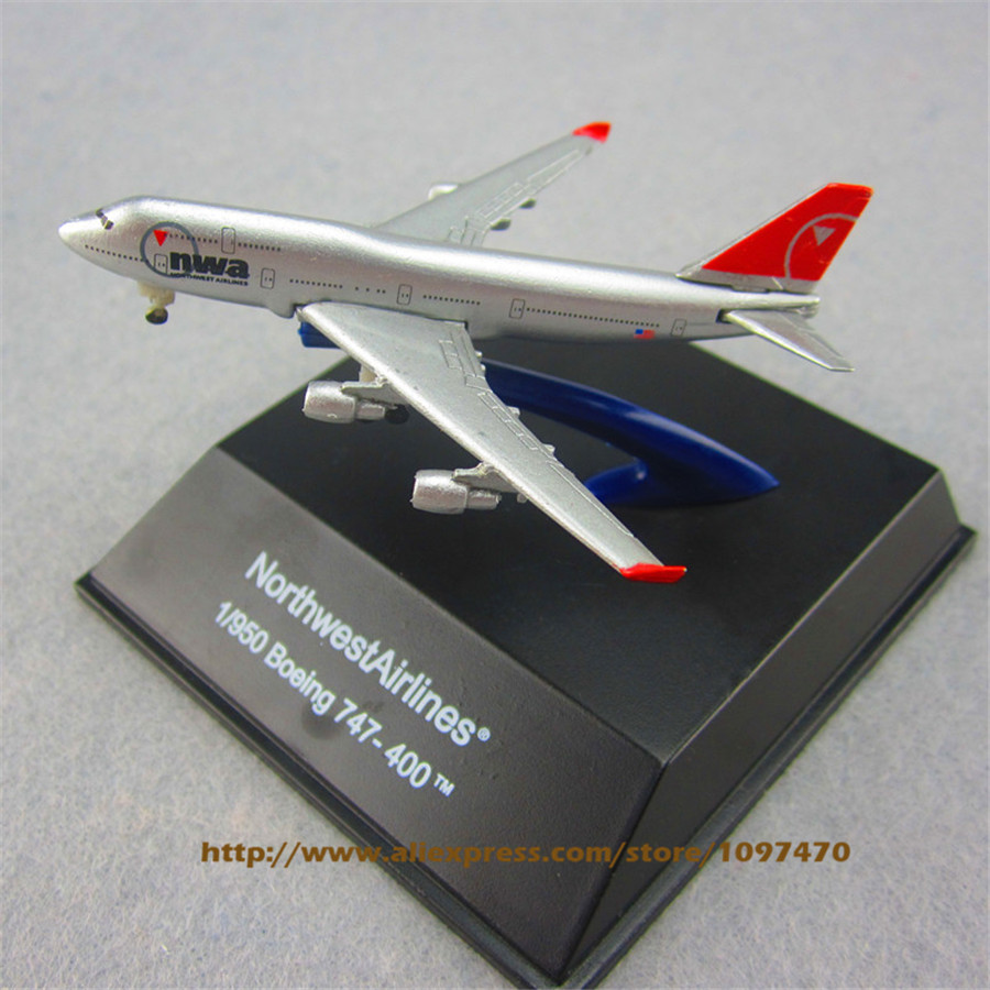 7cm Metal Alloy Plane Model American Air NWA NorthWest Airlines Boeing 747 B747 400 Airways Airplane Model w Stand Aircraft(China (Mainland))