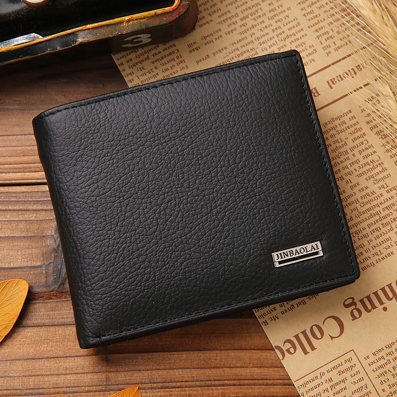 Hot Sale New style 100% genuine leather hasp design men's wallets with coin pocket fashion brand quality purse wallet for men(China (Mainland))