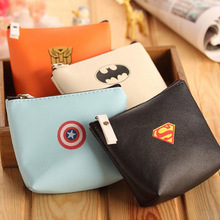 Hero Alliance Wallet Simple Fashion PU Purse Cartoon Small Mini Coin Bag Key Wallet Coin Wallet Children Kids Gifts