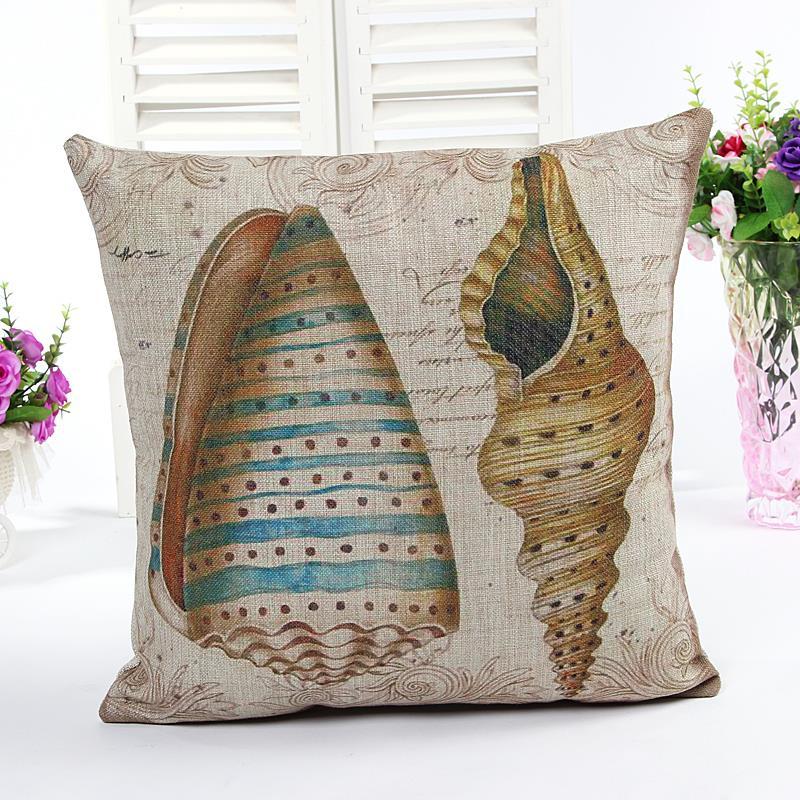 Ocean shell cushions home decor chair cushion pillow - Cojines para sofas ...