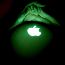 Hot Sale DIY Cool Luxury Luminescent Logo Sticker For Apple iphone 3GS/4S/5/5G/5S/SE Green Light Visible Luminous Stickers(China (Mainland))