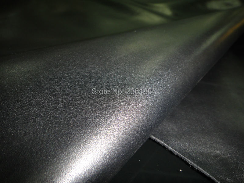 Black Top Grain Genuine Calf Skin Leather Fabric A Grade Exquisite 10SF/LOT ,Free Shipping(China (Mainland))