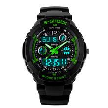 2015 nueva marca de choque SKMEI hombres relojes senderismo escalada exterior LED Digital de cuarzo multifunción reloj militar