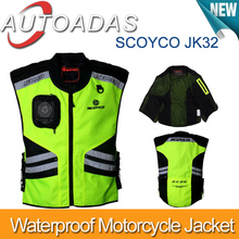 Scoyco JK32  Motorcycle Reflecting Racing Vest ,Motorcycle vest,2size for option,green color(China (Mainland))