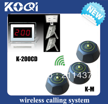Cheapest And Nice waiter buzzer call system for bar (1 guest pager and 5 wireless call buttons ) DHL free shipping free