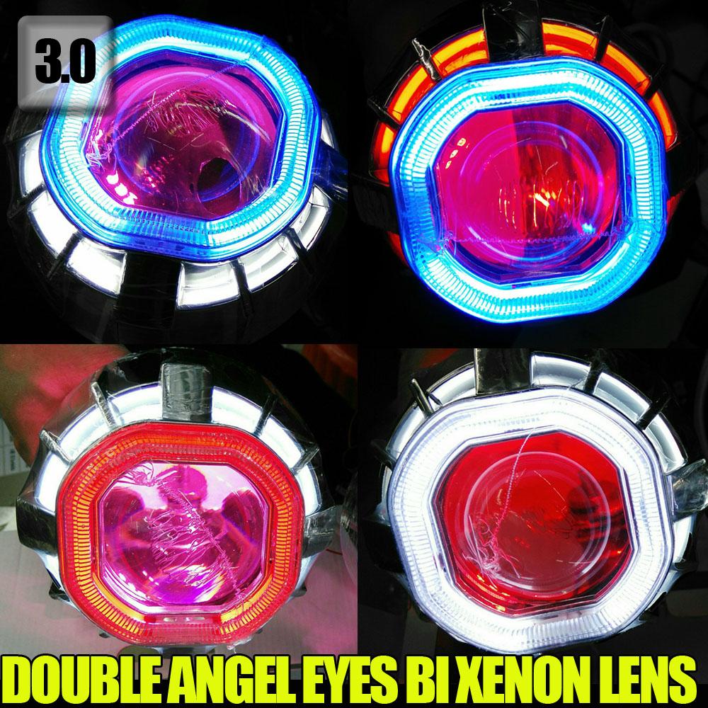 3.0  inch 35W Square angel eye , double CCFL angel eyes  Auto headlight HID Bi-xenon projector lens<br><br>Aliexpress