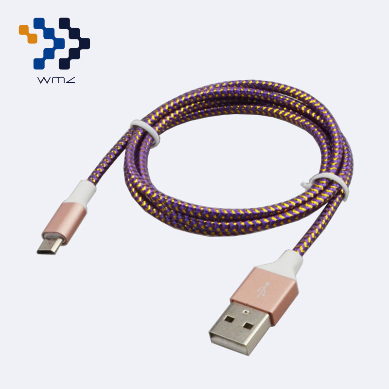 WIMAZON Nylon Braided Cable Mix Color Micro USB 2.0 Cable Data Sync Charger for Samsung Galaxy S3 S4 S6 Blackberry Sony LG HTC(China (Mainland))
