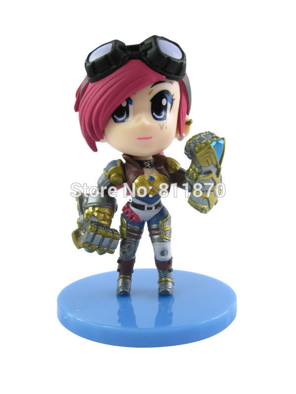Cosplay LOL The Piltover Enforcer Vi 10cm/3.9 Q Version PVC GK Action Figures Toys Model Garage Kits Free Shipping<br><br>Aliexpress