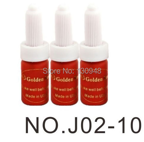 5 Bottle 15ML Deep Red Colors Permanent Makeup Micropigments Cosmetic Tattoo Ink For lip&eyebrows(China (Mainland))