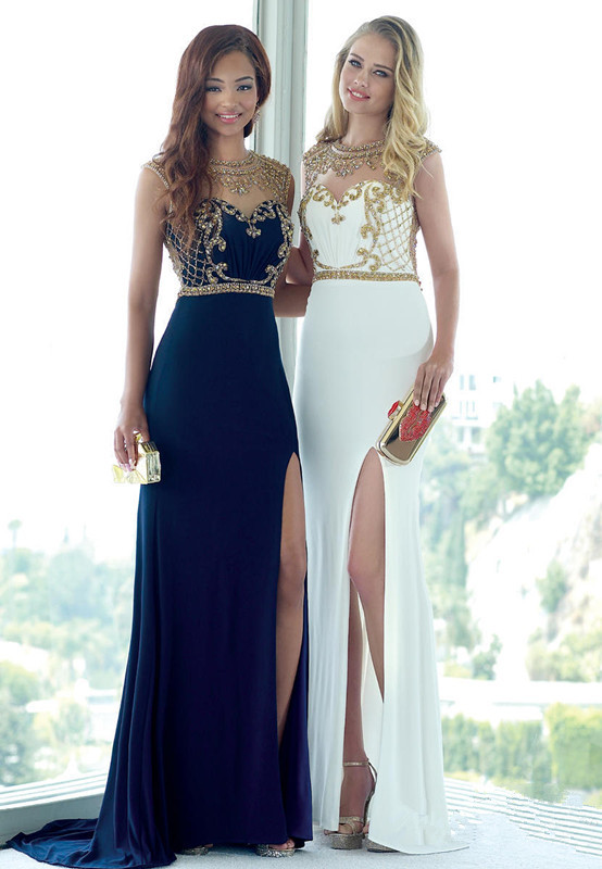 Collection Navy Blue And Gold Prom Dress Pictures - Reikian