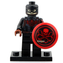 Single Sale DC Marvel Avengers Super Heroes Batman Hydra Captain America PG052 Blocks Legoelieds Minifigures Children Gift(China (Mainland))