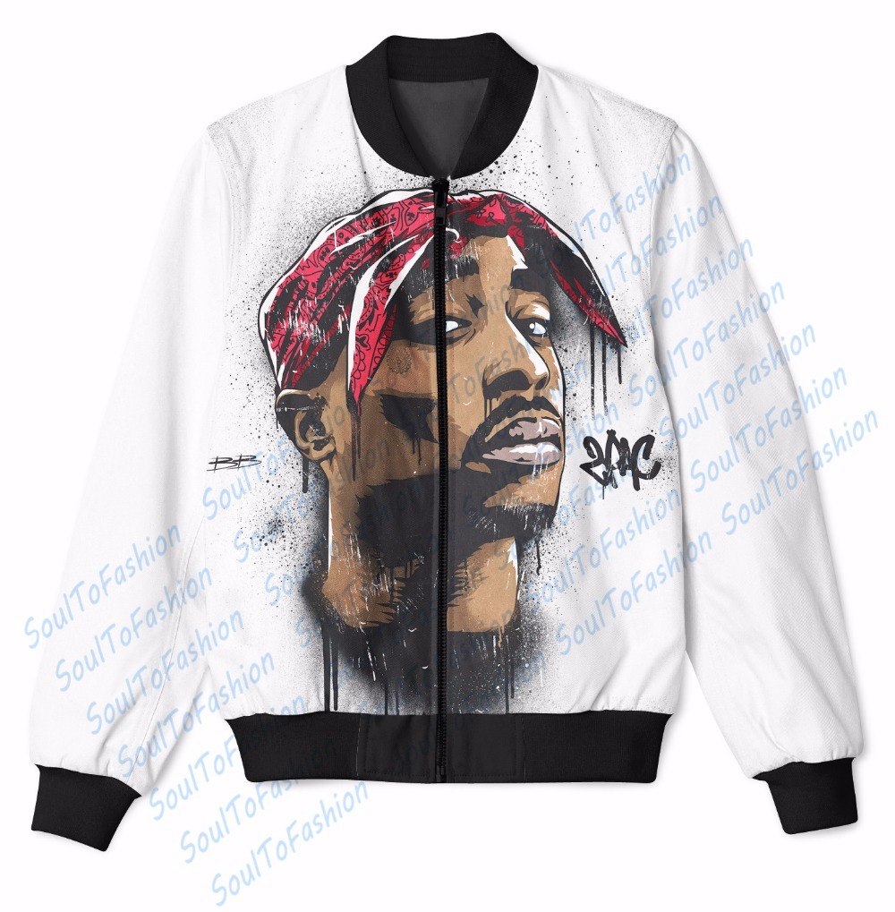 Real USA size Tupac - 2 Pac zipper up 3D Sublimation print jacketОдежда и ак�е��уары<br><br><br>Aliexpress