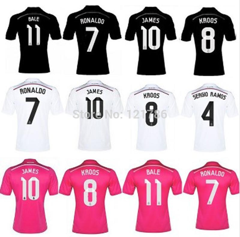A+++ Real Madrid 14 15 Champions League AWAY black Soccer Jersey Real Madrid Real Madrid black Jersey Football shirt BALE(China (Mainland))