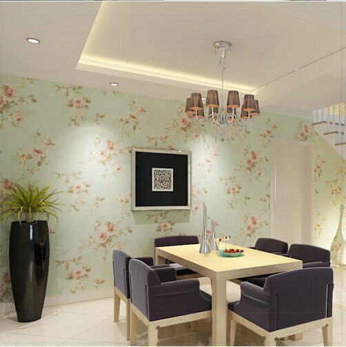 Background Wall Floral Wallpaper Pvc Wall Covering Classic