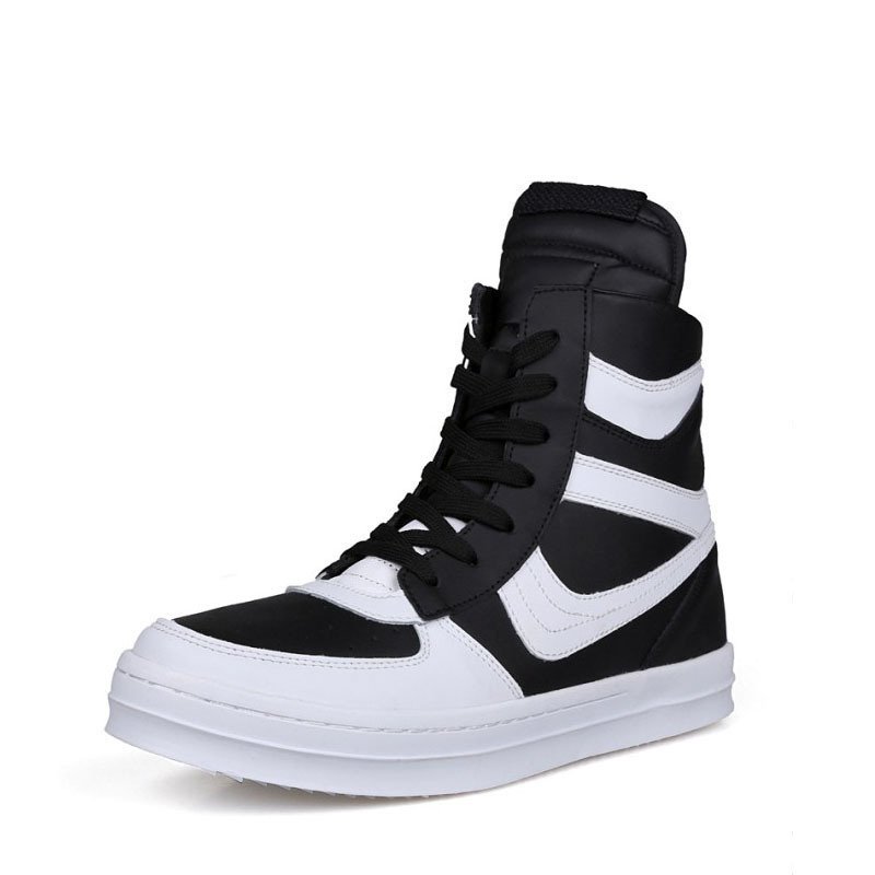 Comfortable 2015 new fashion boots man leather high-top shoes popular side zipper rivet men's best sale boots flats Punk shoes(China (Mainland))