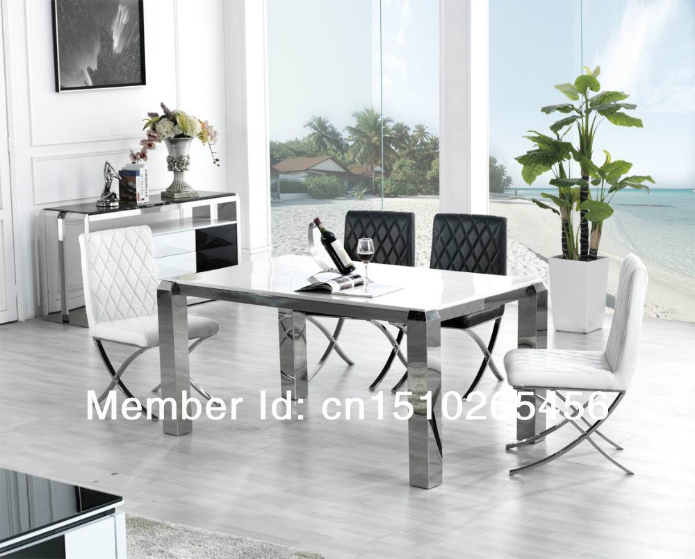 Jie structure hardware stainless steel table marble table toughened glass dining tables and - Hotel dining tables ...