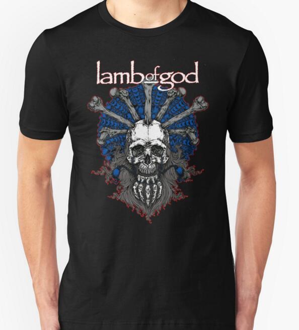 2016 new fashion T Shirts Men Cotton O Neck Short Sleeve Lamb of God Mens music t shirt Euro Size Man Tees Free Shipping(China (Mainland))