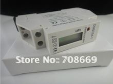 Free shipping 230V 5(32)A DIN-rail Kilowatt Hour kwh Meter LCD(China (Mainland))