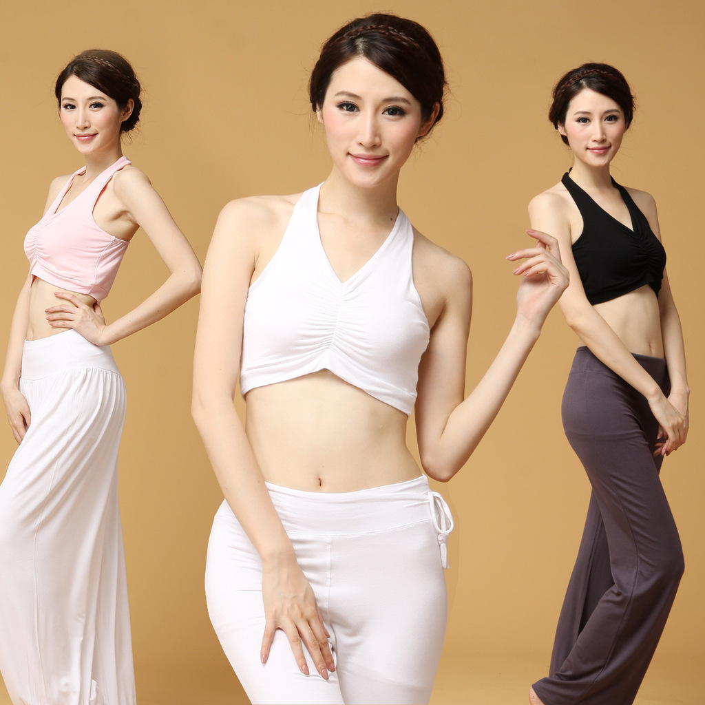 Factory direct wholesale price of the new V collar bra modal fitness yoga clothing wholesale bidding agent(China (Mainland))