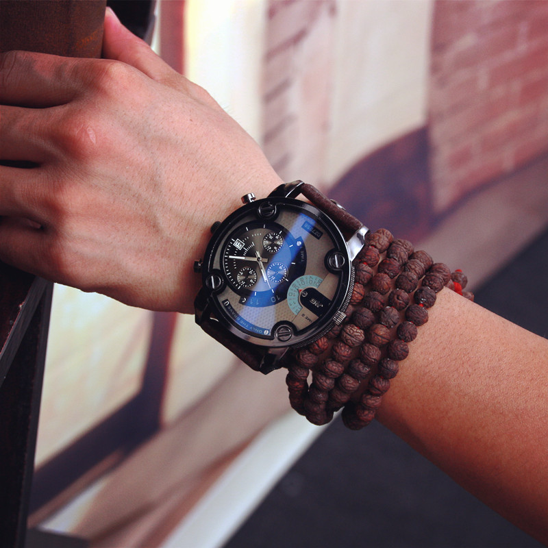 Gift TOP !!! Crazy selling Army belt table trend of retro fashion watch quartz watch large dial watch military(China (Mainland))