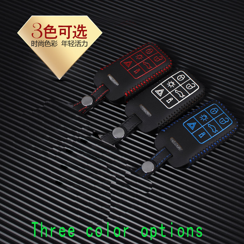 Car styling key cover XC60 S60L V40 V60 C70 S40 S80L dedicated hand stitched leather key