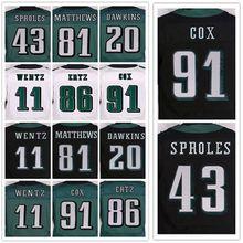 Lower Price Men's stitched jerseys, Elite 11 Carson 20 Brian 43 Darren 91 Fletcher 86 Zach jersey Size M-XXXL(China (Mainland))