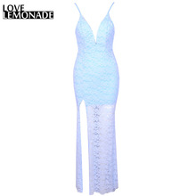 Buy Love&Lemonade Sexy Lace V-Neck Halter Maxi Dress. Party Dress TB 7038 for $35.99 in AliExpress store