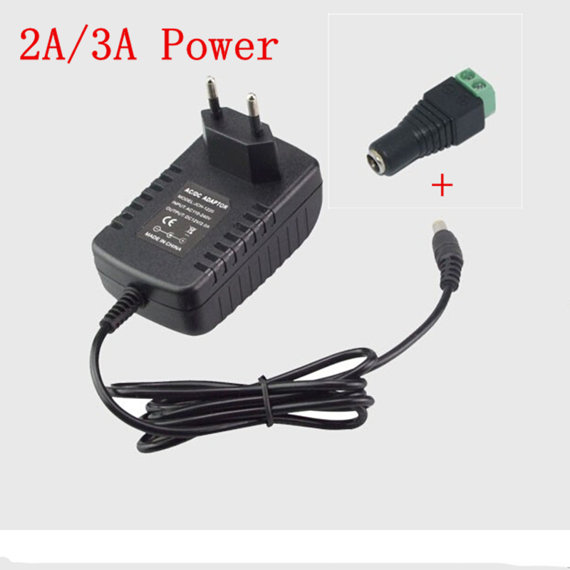 EU US Plug DC 12V 2A 3A 5050 5630 3014 3528 2835 LED Strip Light Power Adapter AC 110V 220V To 12V 24W 36W Supply Transformer(China (Mainland))