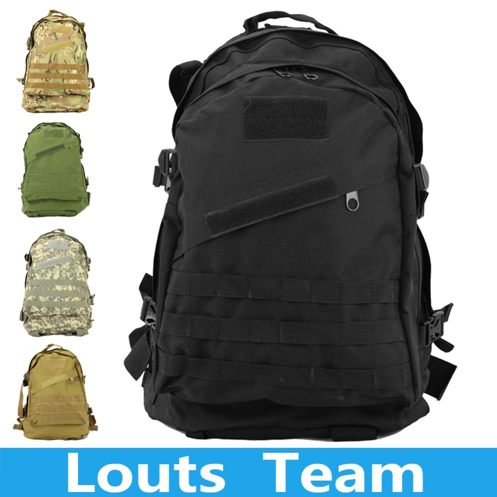 Sports Outdoors Molle 3D Military Tactical Backpack Rucksack Bag Camping Traveling Hiking Trekking Bag 40L(China (Mainland))