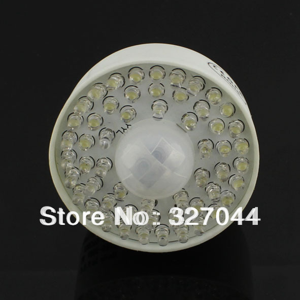 10pcs/lot E27 PVC body 54 PIR LED Motion Sensor Light Bulb Lamp E27 54 PIR Free Shipping(China (Mainland))