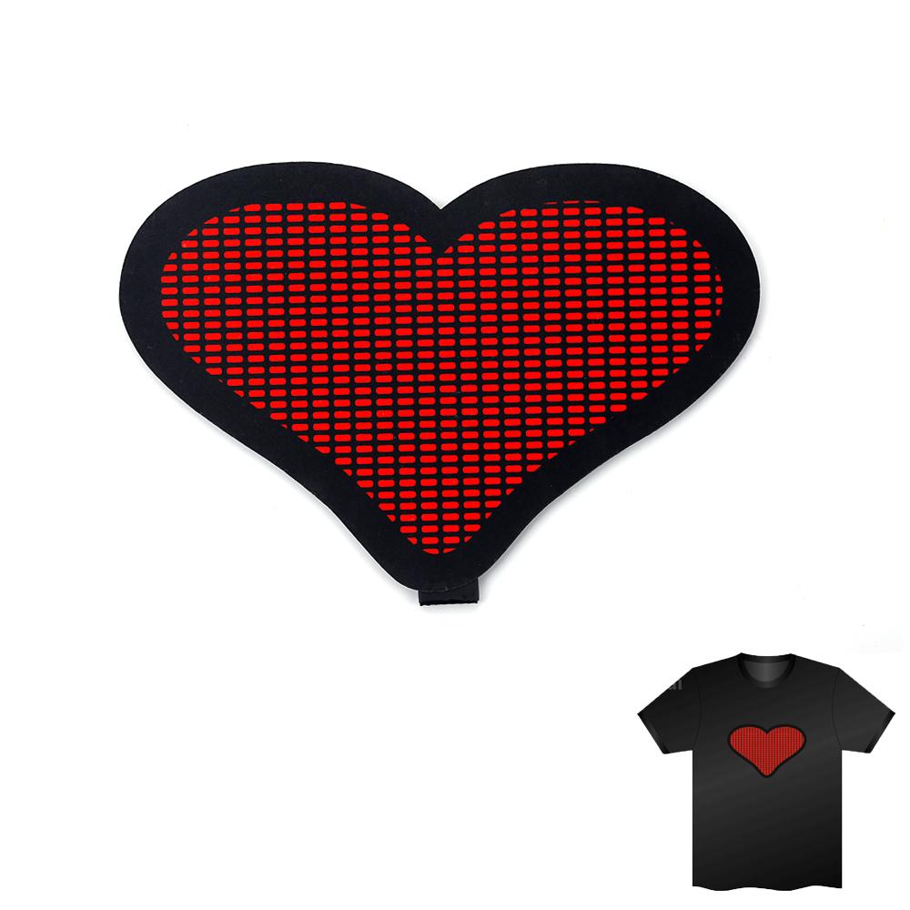 Sound Activated LED T Shirt Light Up Flashing Camisa Led Clothing EL LED T-Shirt Men For Rock Disco Party DJ Camiseta 2016(China (Mainland))