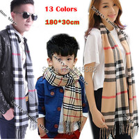 WJ006--2015 Winter Brand warm plaid scarf for men women 13 colors Imitation Cashmere scarves for christmas gift free shipping